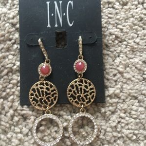 Pink and Gold INC dangle earrings
